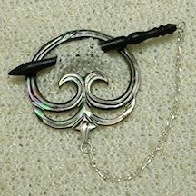 Shawl Pins Carved Shell
